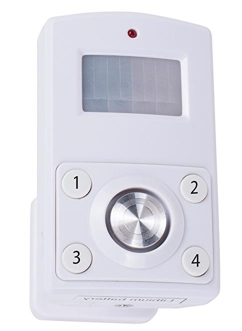 Smartwares Alarm Fonksiyonlu Hareket Sensörü Pin kodu ile devreye sokma/çıkarma  Renkli